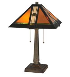 "Meyda Tiffany 22""H Montana Mission Table Lamp"