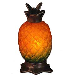 "Meyda Tiffany 7""H Welcome Pineapple Accent Lamp"