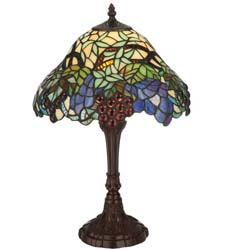 "Meyda Tiffany 18.5""H Spiral Grape Accent Lamp"