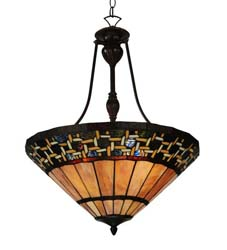 "Meyda Tiffany 20""W Ilona Inverted Pendant"