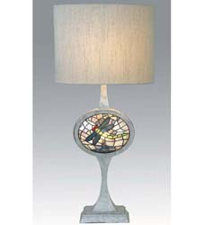 "Meyda Tiffany 31.5""H Cameo Dragonfly Lighted Base Table Lamp"