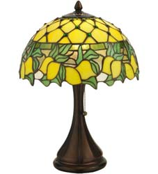 "Meyda Tiffany 17.5""H Lemons Table Lamp"