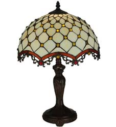 "Meyda Tiffany 20""H Diamond & Jewel Table Lamp"