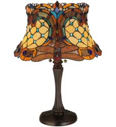 "Meyda Tiffany 22.5""H Tiffany Hanginghead Dragonfly Table Lamp"
