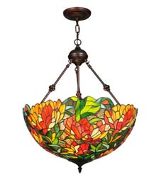 "Meyda Tiffany 20""W Lamella Inverted Pendant"