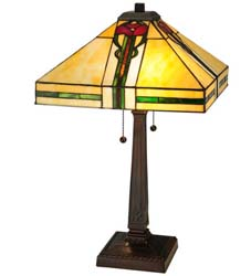 "Meyda Tiffany 23""H Parker Poppy Table Lamp"
