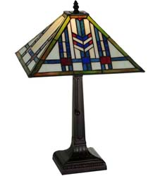 "Meyda Tiffany 20.25""H Prairie Wheat Table Lamp"
