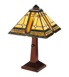 "Meyda Tiffany 16""H Sierra Prairie Mission Accent Lamp"