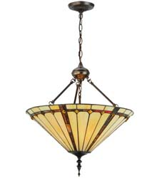"Meyda Tiffany 20""W Belvidere Inverted Pendant"