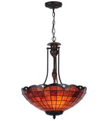 "Meyda Tiffany 20""W Elan Inverted Pendant"