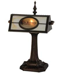 "Meyda Tiffany 17""H Personalized St. Elizabeth's Hospital Banker's Lamp"