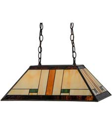 "Meyda Tiffany 21""L Manhattan Oblong Pendant"