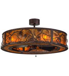"Meyda Tiffany 44.5""W Whispering Pines Chandel-Air"