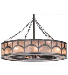 "Meyda Tiffany 45""W Mission Hill Top W/Up And Downlights Chandel-Air"