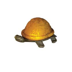 "Meyda Tiffany 4""H Turtle Art Glass Accent Lamp"