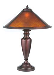 "Meyda Tiffany 23""H Van Erp Amber Mica Table Lamp"