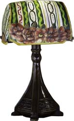 "Meyda Tiffany 18""H Puffy Ravenna Floral Accent Lamp"