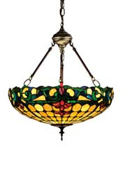 "Meyda Tiffany 18""W Duffner & Kimberly Colonial Inverted Pendant"