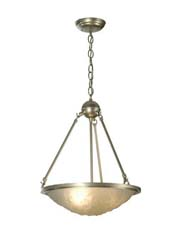 "Meyda Tiffany 15.5""W Revival Deco Ball Inverted Pendant"