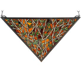 "Meyda Tiffany 21.5""W X 12""H Bamboo Stained Glass Window"