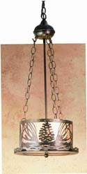 "Meyda Tiffany 10""W Mountain Pine Inverted Pendant"