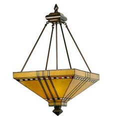 "Meyda Tiffany 17""Sq Prairie Corn Inverted Pendant"