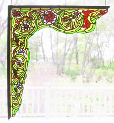 "Meyda Tiffany 22""W X 23.5""H Serpent Left Corner Bracket Window"