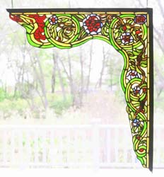 "Meyda Tiffany 22""W X 23.5""H Serpent Right Corner Bracket Window"