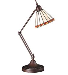 "Meyda Tiffany 23""H Prairie Mission Adjustable Desk Lamp"