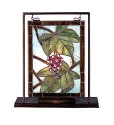 "Meyda Tiffany 9.5""W X 10.5""H Nappa Vintage Lighted Mini Tabletop Window"