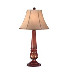 "Meyda Tiffany 33""H Kendall Fabric Table Lamp"