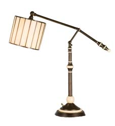 "Meyda Tiffany 24-37""H Revolution Swing Arm Desk Lamp"