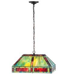 "Meyda Tiffany 20""L Chaves Oblong Pendant"
