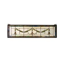 "Meyda Tiffany 31.5""W X 8""H Garland Swag Stained Glass Window"