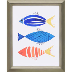 Summer Fish Trio Wall Art