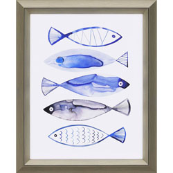 Retro Watercolour Fish Wall Art