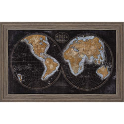 The World in Gold Wall Art