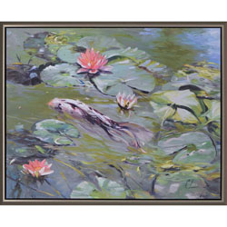 Koi and Lilies Wall Art