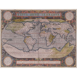 Antique World Map Wall Art
