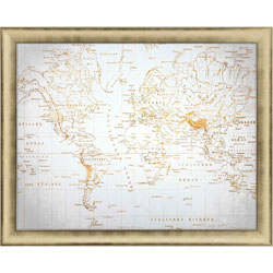 Neutral World Map Wall Art