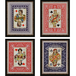 Playing Cards Pk/4 Wall Art