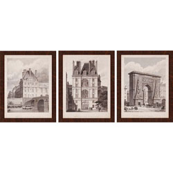 French Landmarks I Pk/3 Wall Art