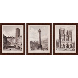 French Landmarks II Pk/3 Wall Art