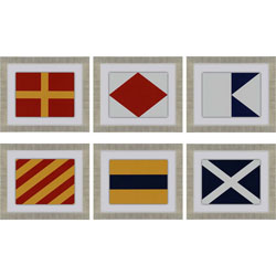 Nautical Signals Pk/6 Wall Art