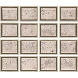 Map of London Grid Pk/16 Wall Art