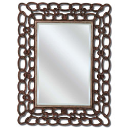 Mottled Copper Links Mirror