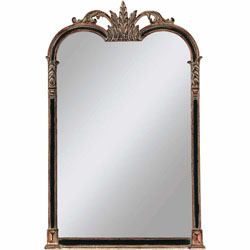 Black/Gold Napoleon Mirror