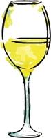 Watercolor White Wine Glass 1043-03