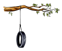 Tree with Tire Swing 1106-02