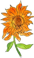 1202 Sunrise Sunflower Exclusive set for Scrapbook Expo Watercolor Class Not for sale